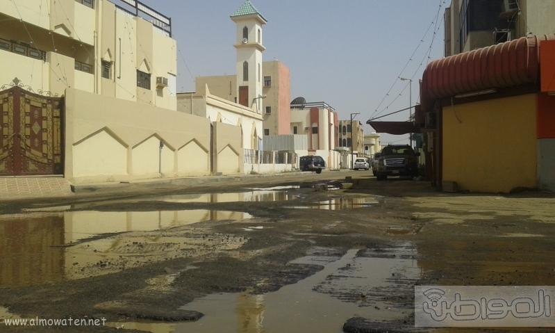 مياه الصرف الصحي تحاصر مسجد ومباني حكومية بروضة جازان (12)