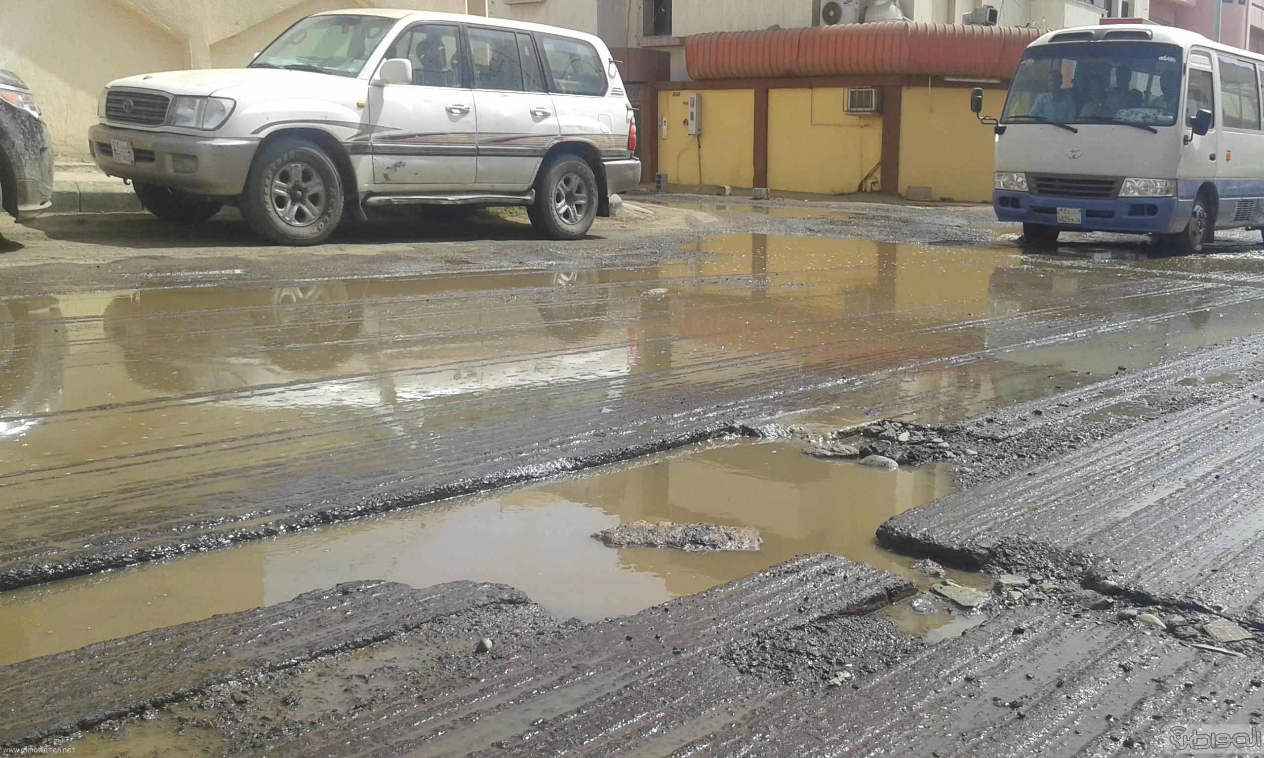 مياه الصرف الصحي تحاصر مسجد ومباني حكومية بروضة جازان (5)