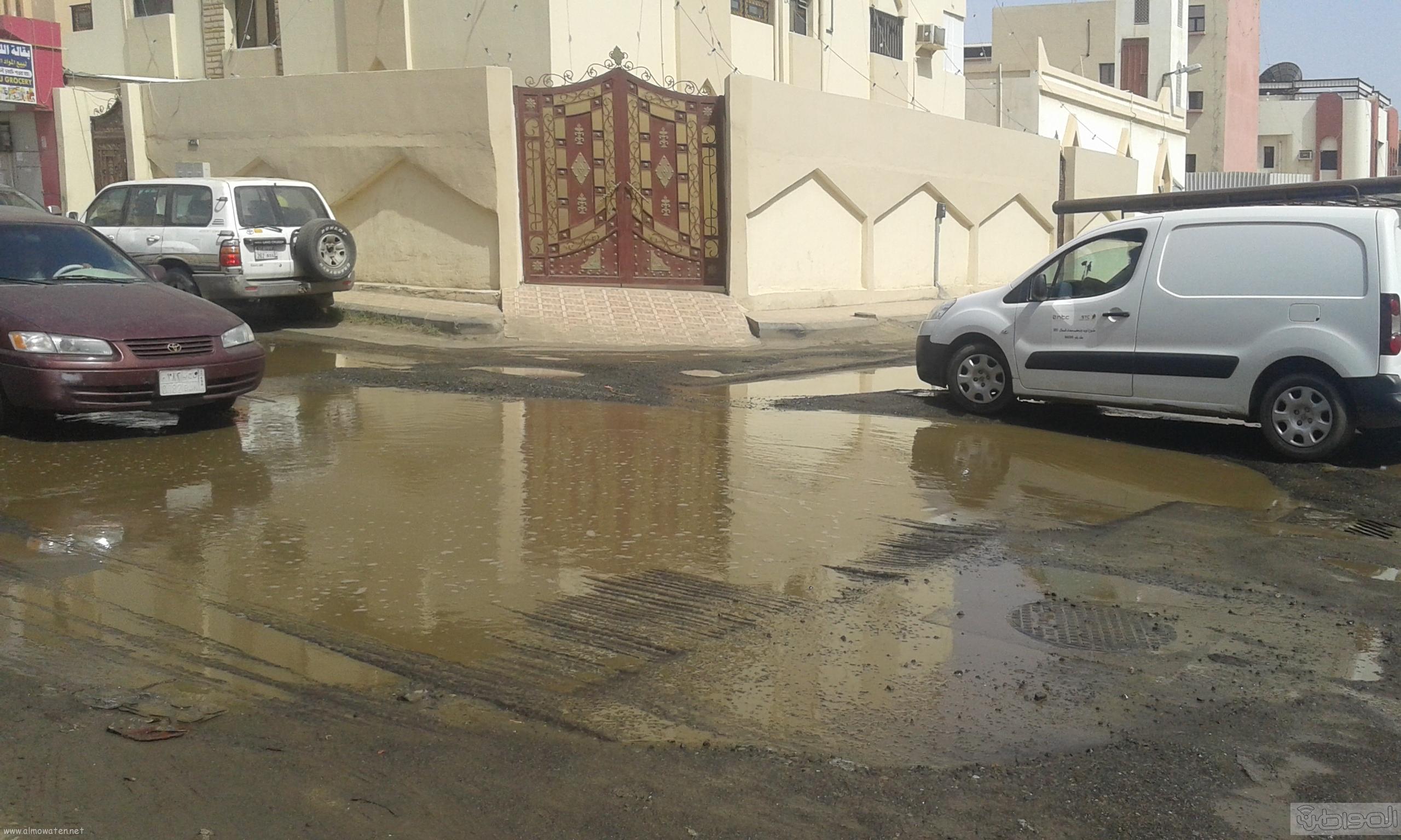 مياه الصرف الصحي تحاصر مسجد ومباني حكومية بروضة جازان (7)