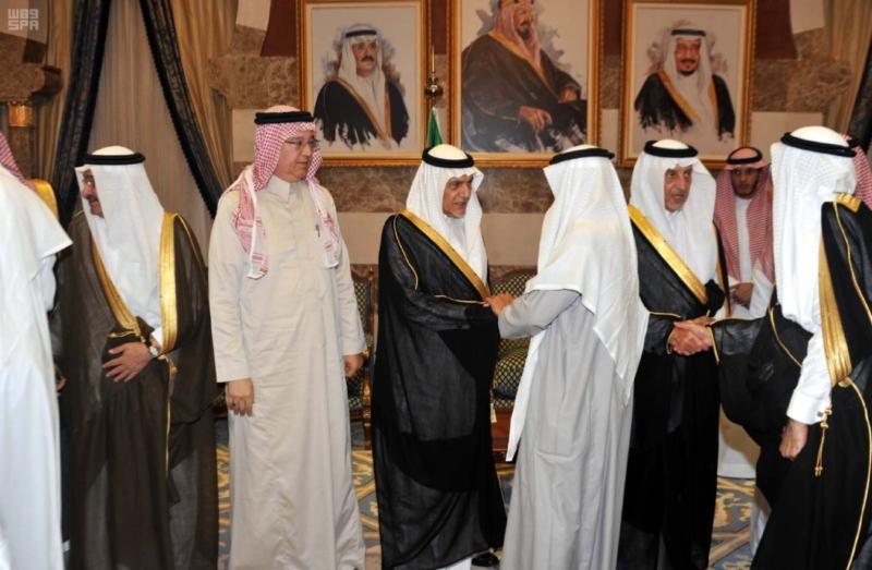 مير منطقة مكة المكرمة يستقبل المعزين في وفاة الأمير محمد بن فيصل 2