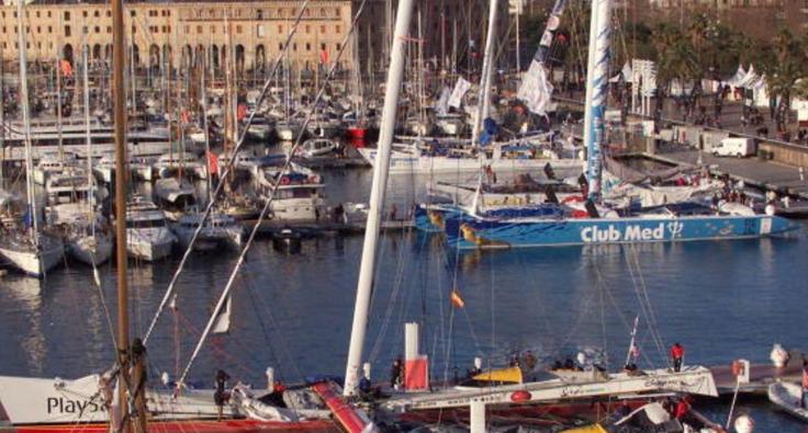 ميناء مدينة برشلونه - سفن - قوارب.