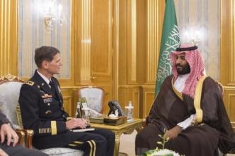 بالصور.. نائب الملك يناقش مكافحة الإرهاب مع قائد القيادة المركزية في الجيش الأميركي - المواطن