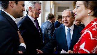 نائب بالبرلمان الهولندي يرفض مصافحة نتنياهو ويضع على صدره علم فلسطين