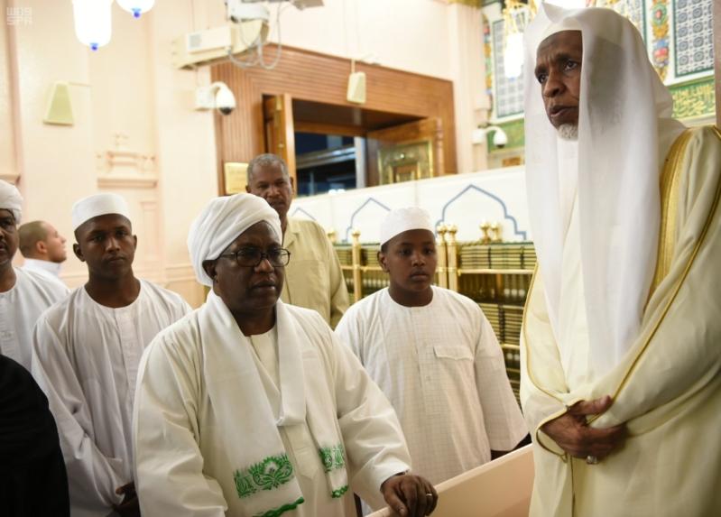 نائب رئيس جمهورية السودان يزور المسجد النبوي 3