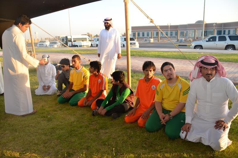 نادي الجوف لذوي الاحتياجات الخاصة يزور مهرجان ميقوع الصيفي 1