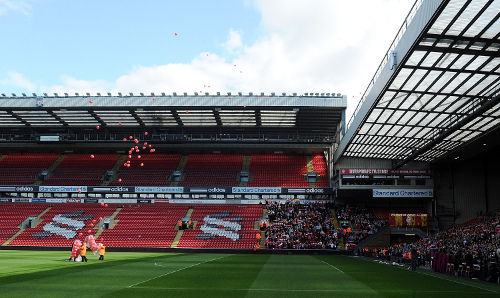 (THE SUN OUT, THE SUN ON SUNDAY OUT) (NO SALES) In this handout image provided by Liverpool FC, xxxxx during a memorial service held to mark the 23rd anniversary of the Hillsborough disaster at Anfield on April 15, 2012 in Liverpool, England.