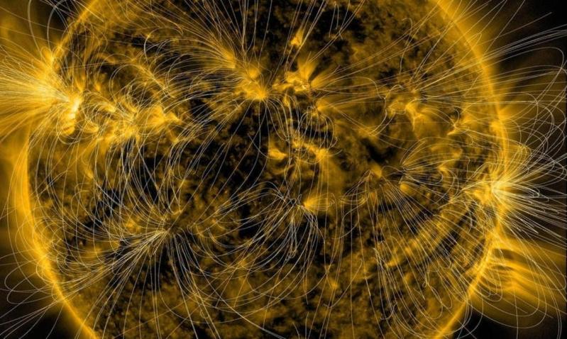 ناسا تكشف النطاقات المغناطيسية الخفية للشمس