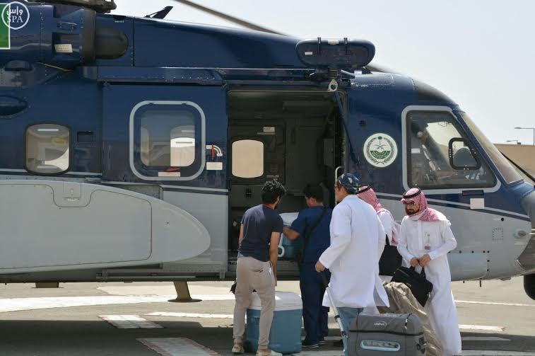 نقل أعضاء مُتْبرَّع بها عبر طائرة الإخلاء الطبي بمكة (1) 