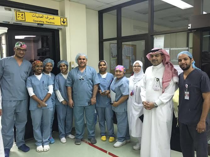 نقل الأعضاء لطفل متوفي دماغيًا بالمركز السعودي (1) 