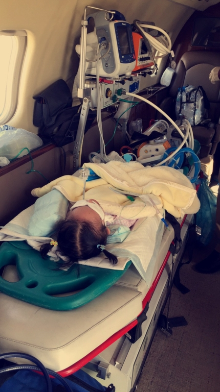 نقل الطفلة وتين لمستشفى الملك عبد الله (1)