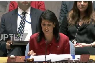 بالفيديو.. مندوبة أميركا بمجلس الأمن: إيران وروسيا شريكان في سفك دماء السوريين - المواطن