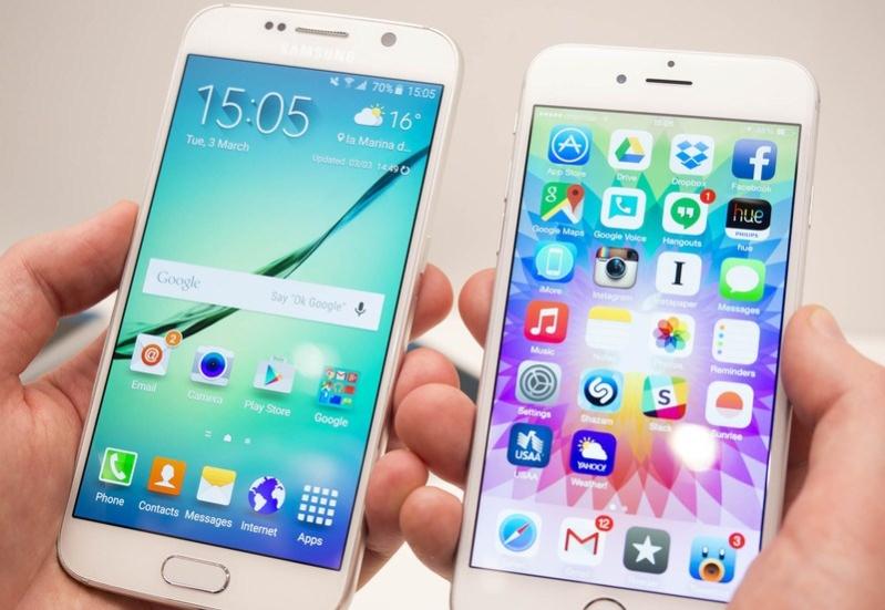 هاتفي سامسونج iPhone 6