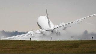 هبوط مرعب لطائرة