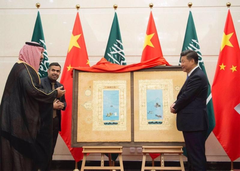 هدية ولي ولي العهد لرئيس الصين