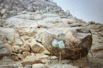 شاهد.. هذه الصخرة استظل بها رسول الله في حجة الوداع - المواطن