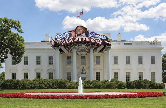 هكذا تخيل البعض البيت الأبيض في عهد ترامب 1