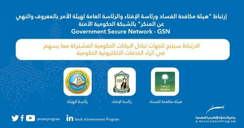 الهيئة تنضم للشبكة الحكومية الآمنة GSN «يسر»