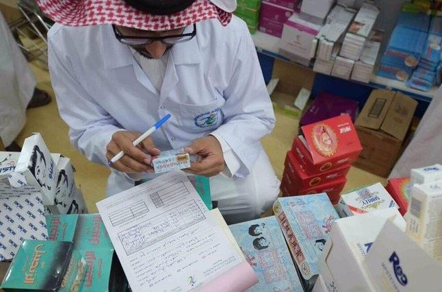 هيئة الغذاء والدواء تصادر مستحضرات طبية وكبسولات وأقراص مغشوشة في حفرالباطن (3)