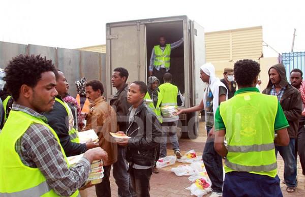 وجية غداء الأثيبوبيين في جامعة نورة 2