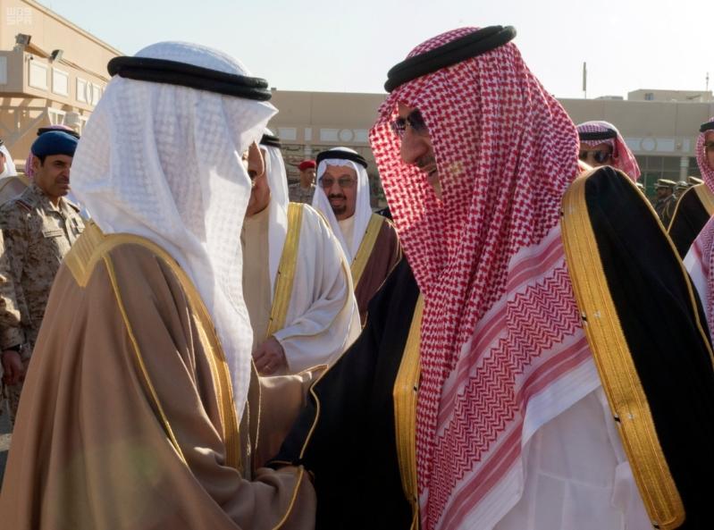 وداع رئيس وزراء البحرين
