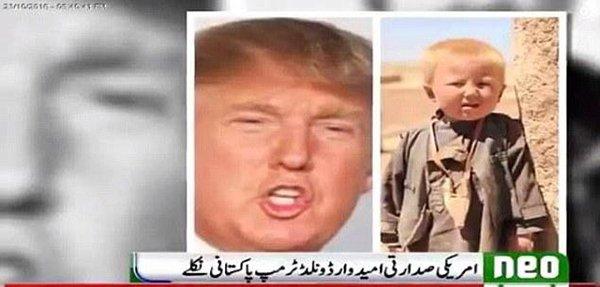 ورة لـ ترامب وهو طفل تثير الجدل حول أصل عائلته واسمه ومكان ولادته!