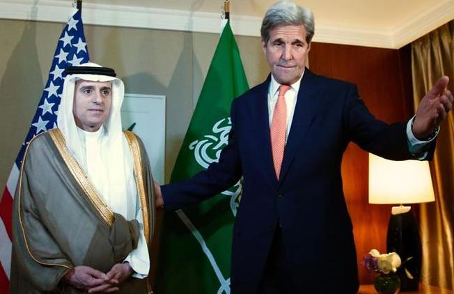 وزر الخارجية السعودي مع وزير الخارجية الامريكي