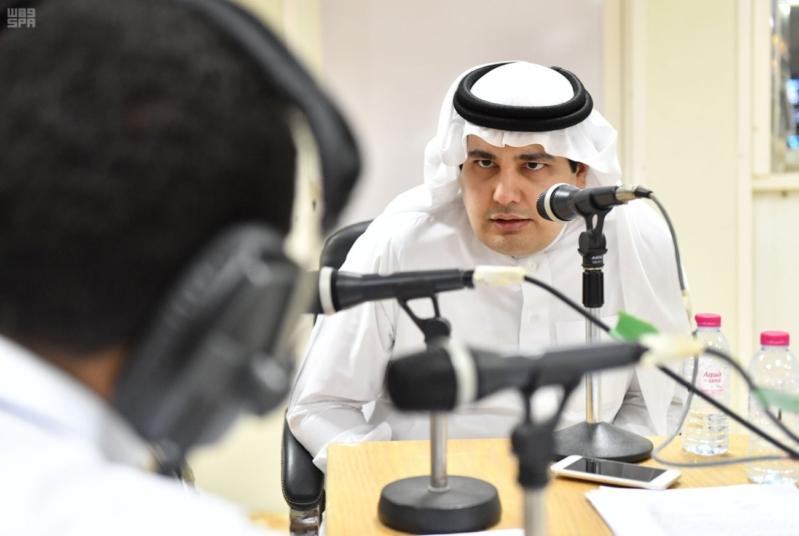 وزير الاعلام الطريفي يتفقد مقر الوزارة في منى 10
