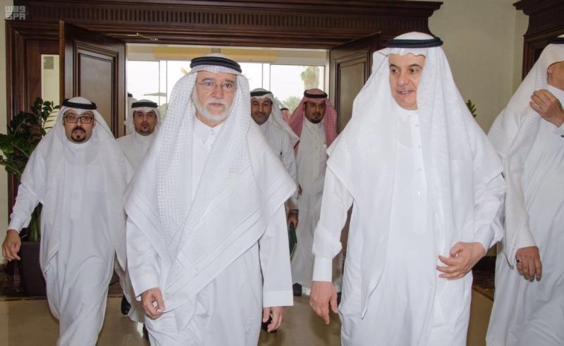 وزير البيئة ورئيس الأرصاد ومحافظ المياه يزورون هيئة المساحة الجيولوجية 1