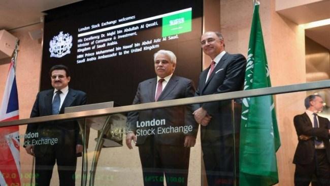 وزير التجارة والاستثمارماجد القصبي يطلع على سير العمل في بورصة لندن