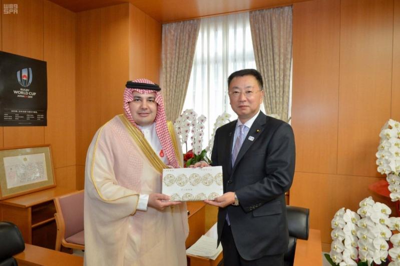 وزير الثقافة والإعلام يبحث مع نظيره الياباني