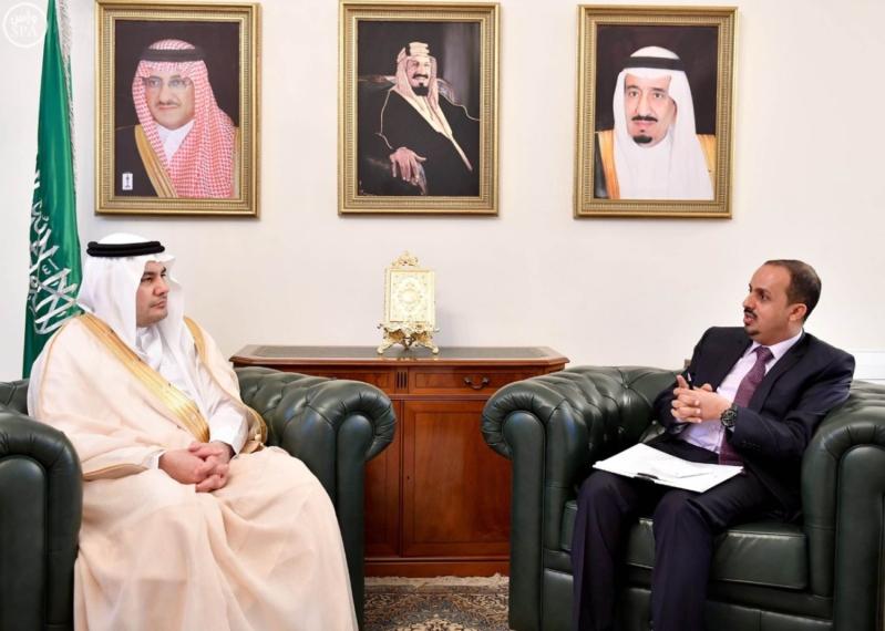 وزير الثقافة والإعلام يستقبل وزير السياحة اليمني
