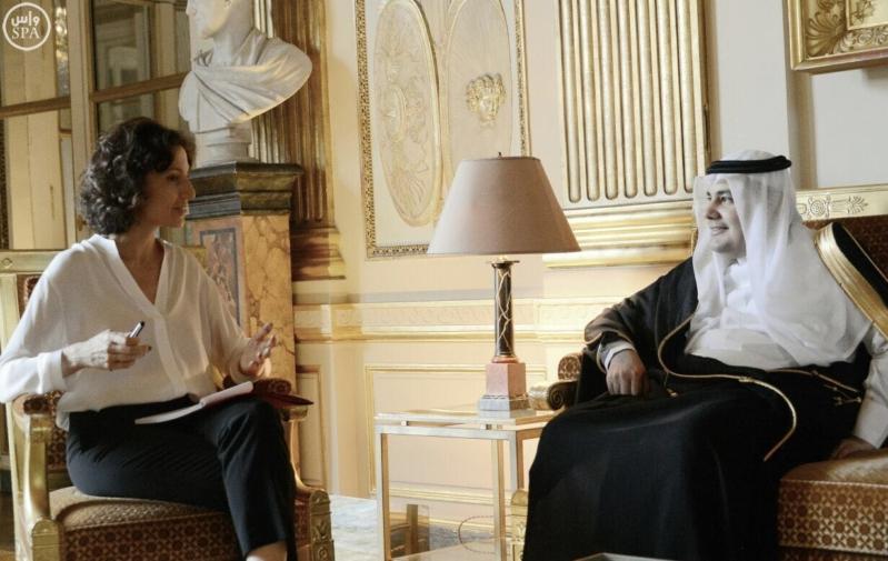 وزير الثقافة يبحث مع نظيرته الفرنسية تعزيز التعاون وفقًا لرؤية المملكة 2030