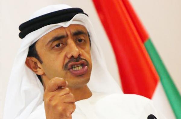 وزير الخارجية الأماراتي عبدالله-بن-زايد.