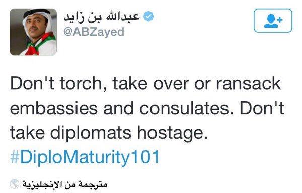 وزير الخارجية الأماراتي عبدالله بن زايد