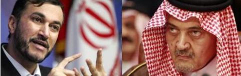 وزير الخارجية الأمير سعود الفيصل مع  مساعد وزير الخارجية الإيرانية حسين أمير عبداللهيان