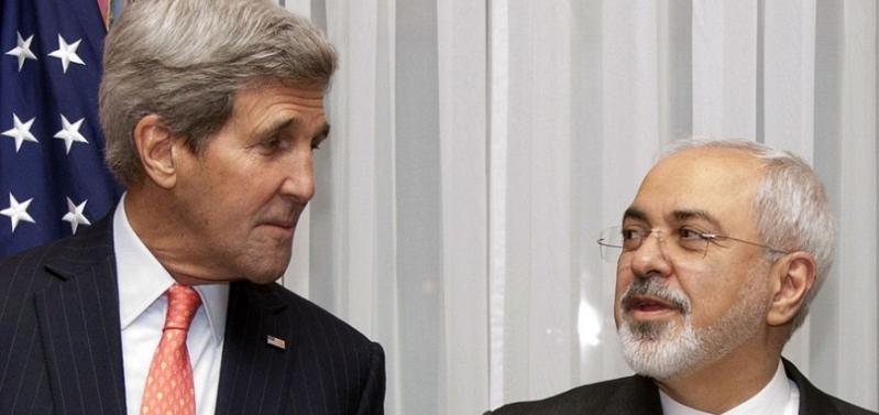 وزير الخارجية الامريكي ووزير الخارجية الايراني