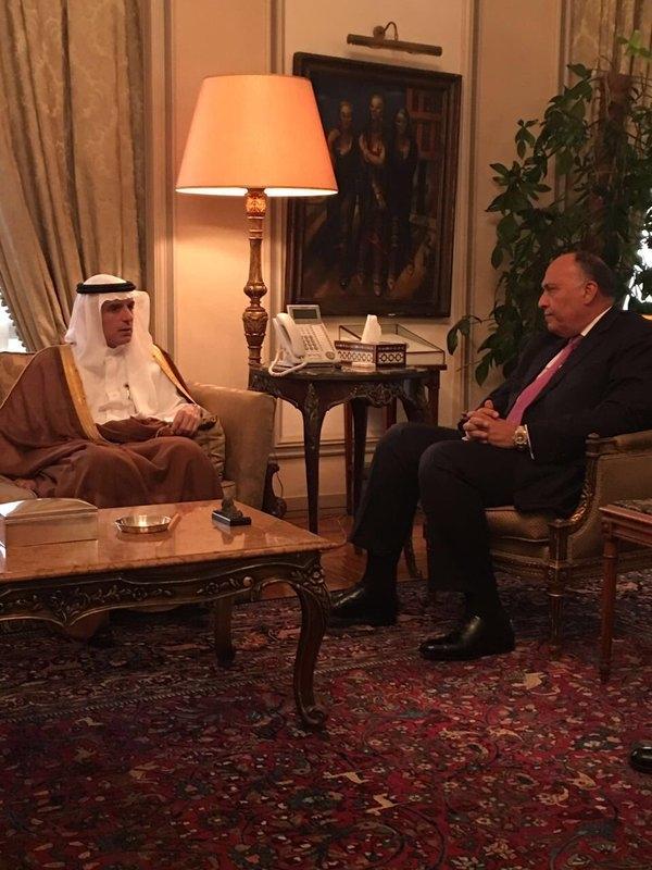 وزير الخارجية السعودية مع نظره المصري