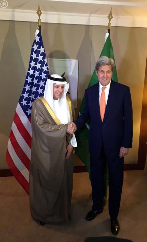 وزير الخارجية عادل الجبير مع وزير خارجية امريكا