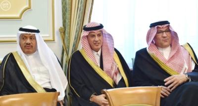 وزير الخارجية عادل الجبير مع وزير خارجية كازاخستان