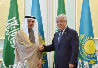 وزير الخارجية عادل الجبير مع وزير خارجية كازاخستان.jpg17