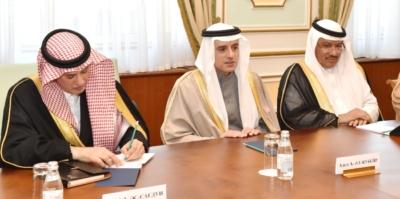 وزير الخارجية عادل الجبير مع وزير خارجية كازاخستان.jpg19