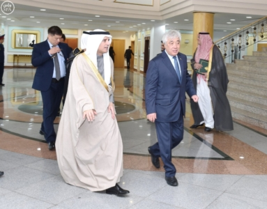 وزير الخارجية عادل الجبير مع وزير خارجية كازاخستان.jpg1