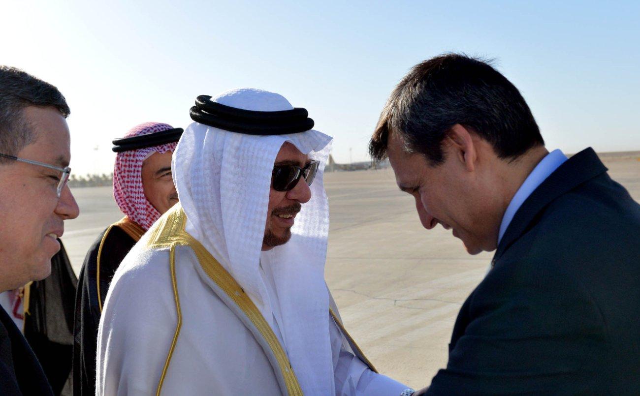 وزير الدولة للشؤون الخارجية نزار بن عبيد مدني يستقبل  وزير خارجية تركمانستان رشيد ميريدوف (4)