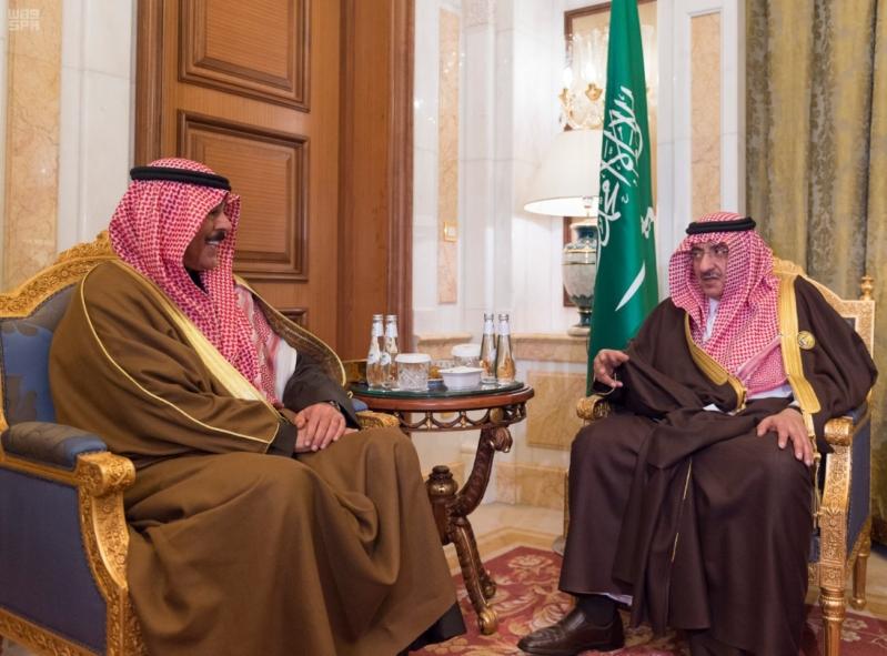 ولي العهد يستقبل وزير داخلية الكويت
