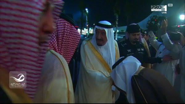 وصول الملك سلمان إلى ملعب الجوهرة