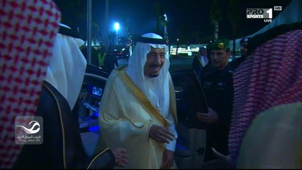 وصول الملك سلمان إلى ملعب الجوهرة2