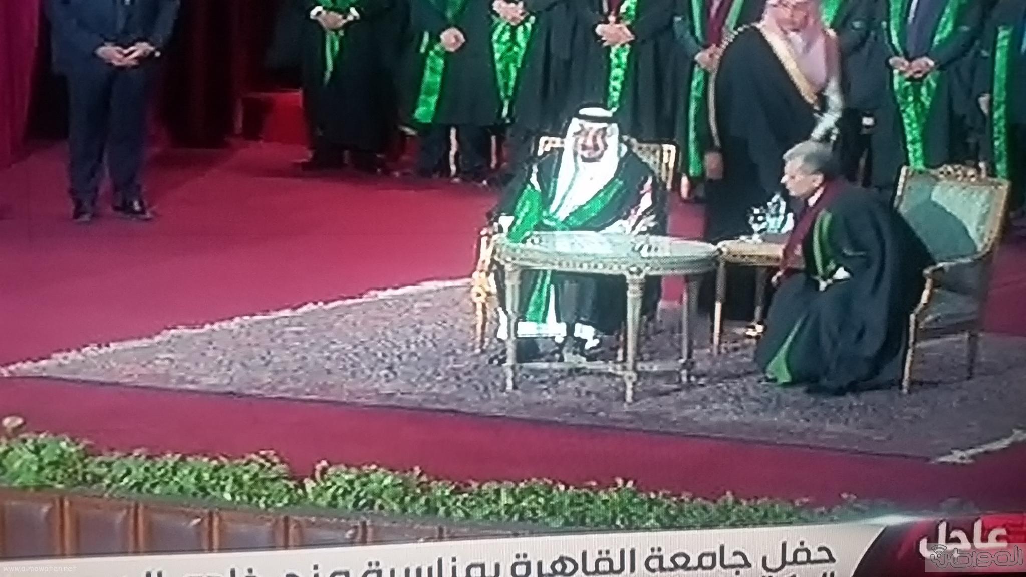 وصول الملك سلمان لجامعة القاهرة (2)