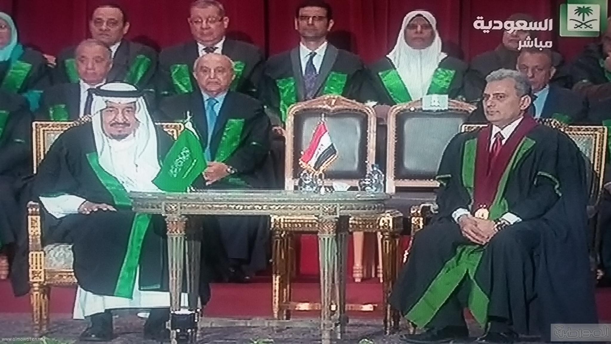 وصول الملك سلمان لجامعة القاهرة (5)