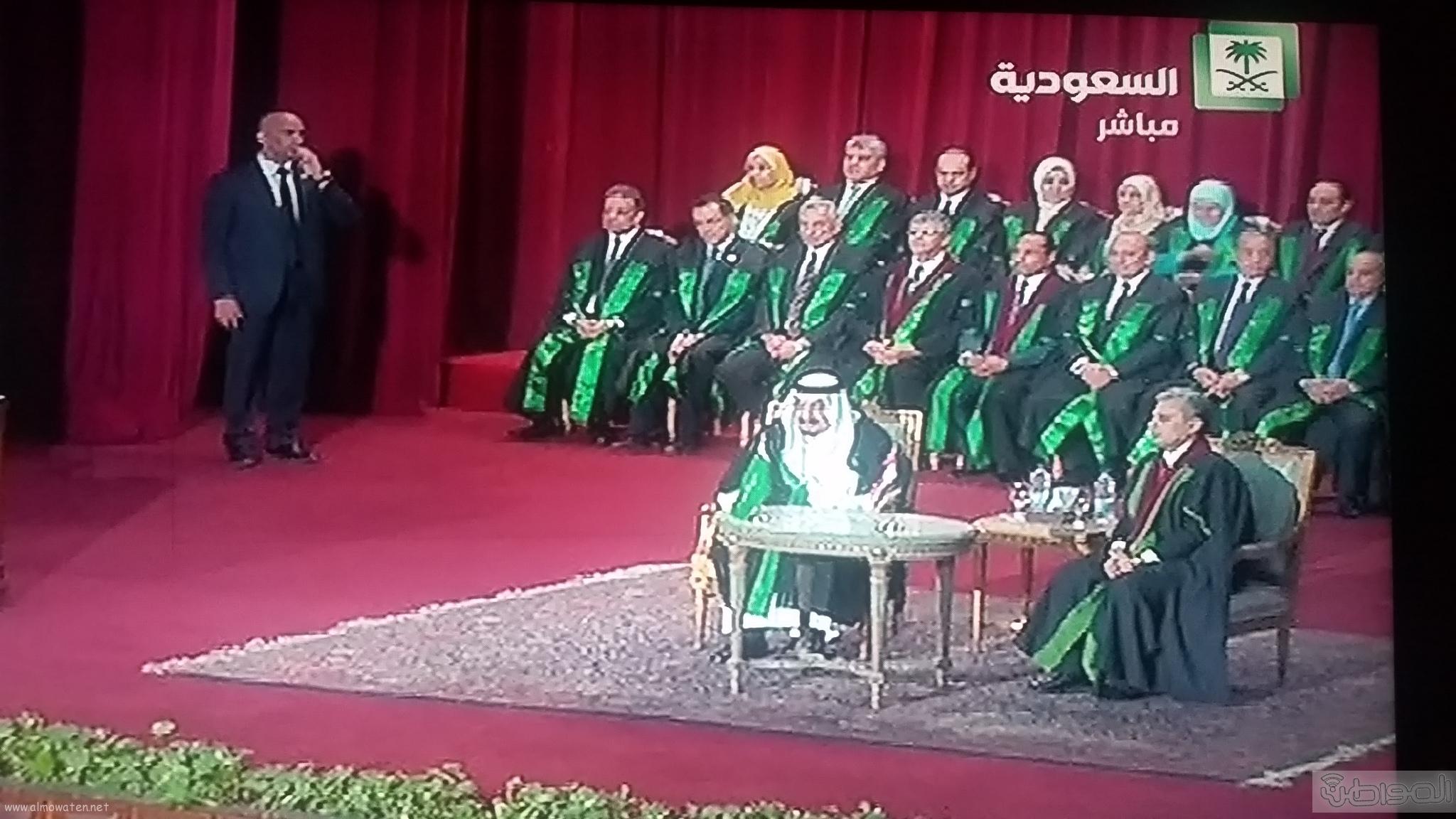 وصول الملك سلمان لجامعة القاهرة (6)