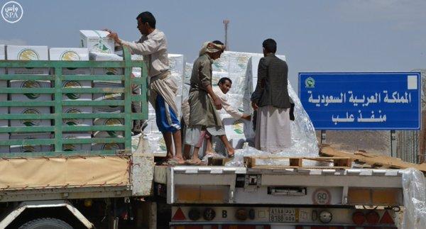 وصول 14 ألف سلة غذائية من الملك سلمان للإغاثة إلى تعز (3)